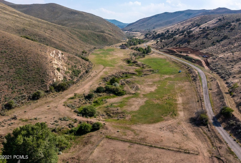 lot 2 aerial up canyon